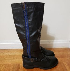 Charlotte Russe Black Over the Knee Boots 8.5